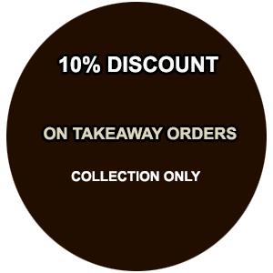 10% Discount on Collection Takeaway Orders